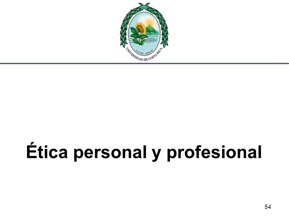 Ética personal y profesional 54