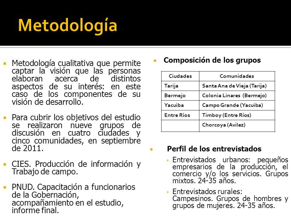 GOBERNACIÓN DE TARIJA SECRETARIA DE PLANIFICACIÓN E INVERSIÓN CENTRO DE INVESTIGACIÓN Y ESTADÍSTICAS (CIE) PROGRAMA DE LAS NACIONES UNIDAS PARA EL DESARROLLO (PNUD) Marzo de 2012
