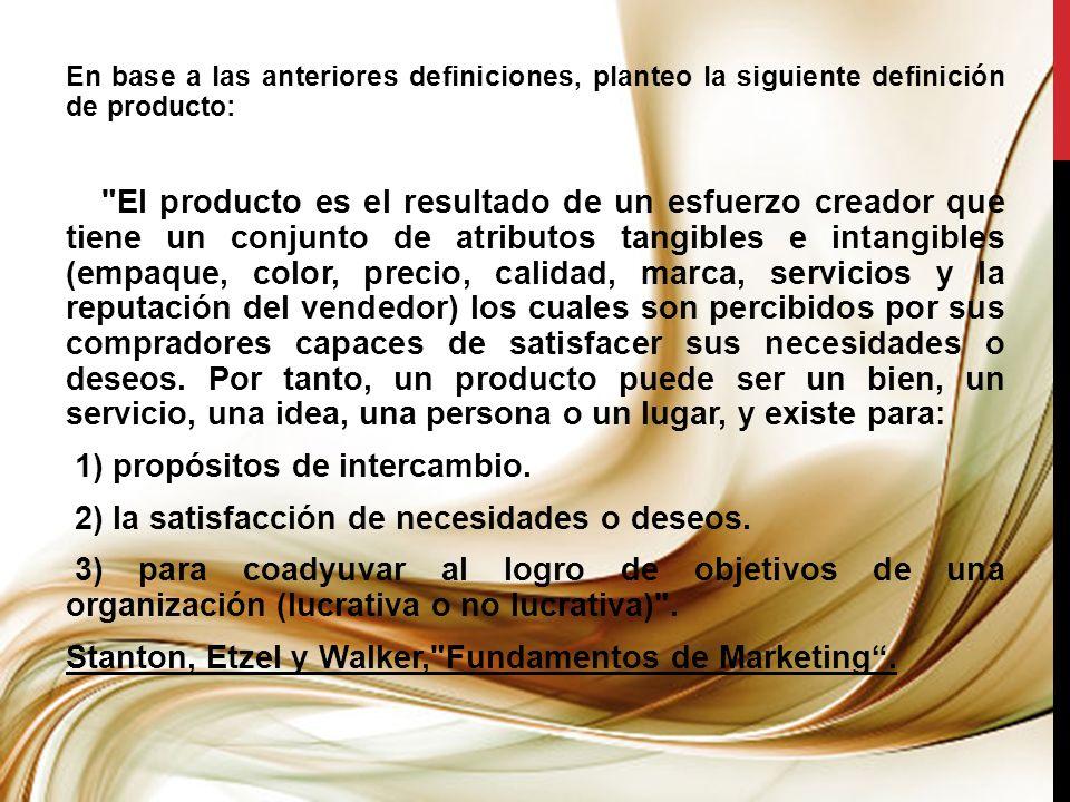 1.2.- CLASIFICACIÓN DE LOS PRODUCTOS