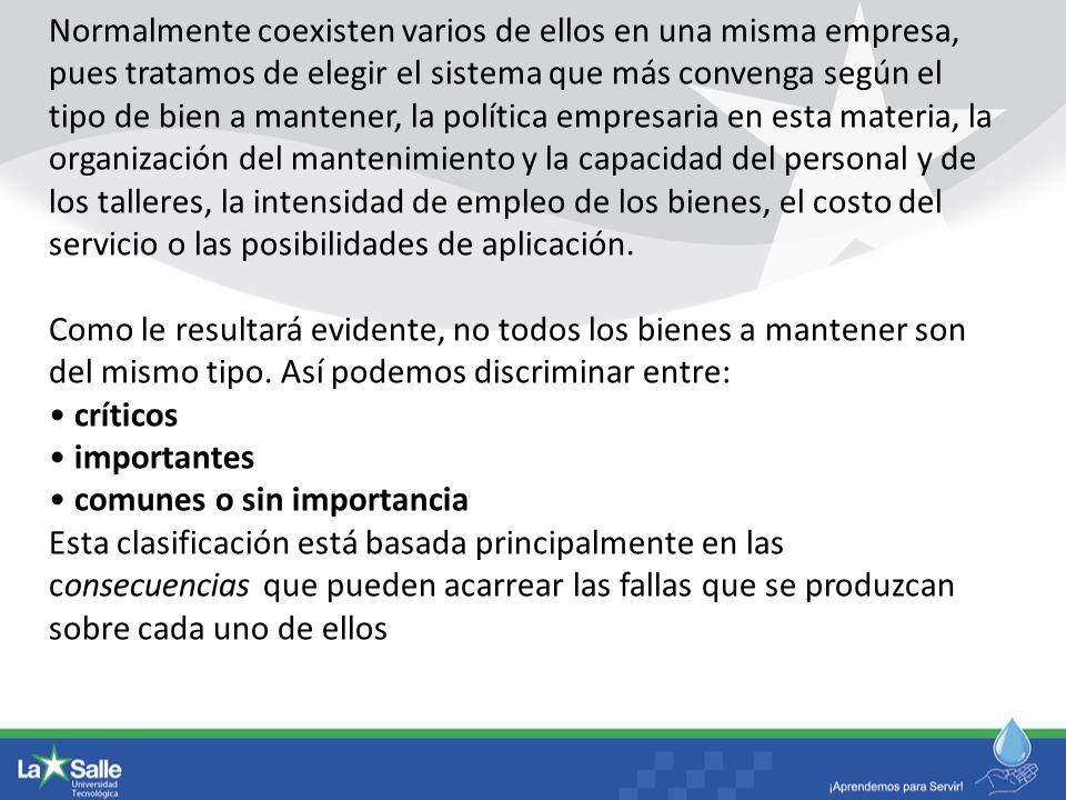 EL MANTENIMIENTO CORRECTIVO LA SANITARIA S.A.
