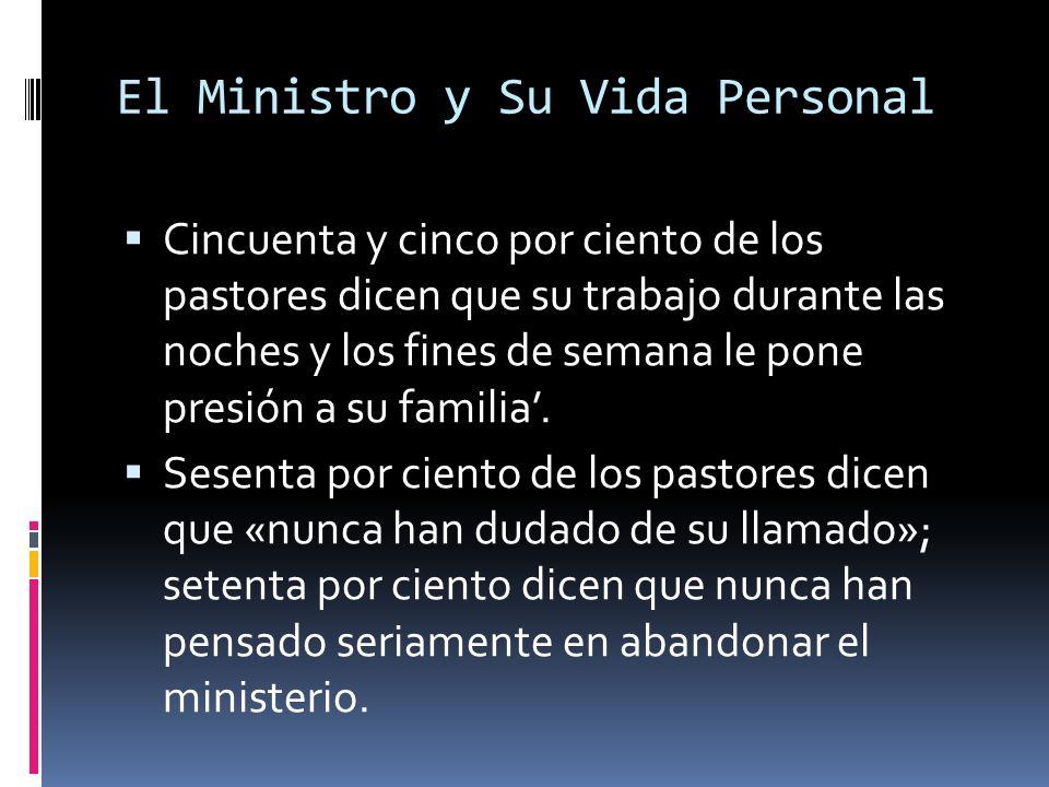 El Ministro y Su Vida Personal Cincuenta y cinco por ciento de los pastores dicen que su trabajo durante las noches y los fines de semana le pone presión a su familia.