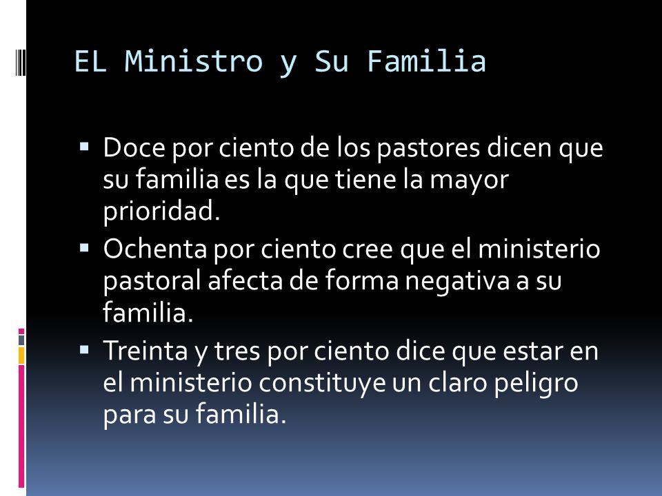 EL Ministro y Su Familia Doce por ciento de los pastores dicen que su familia es la que tiene la mayor prioridad.