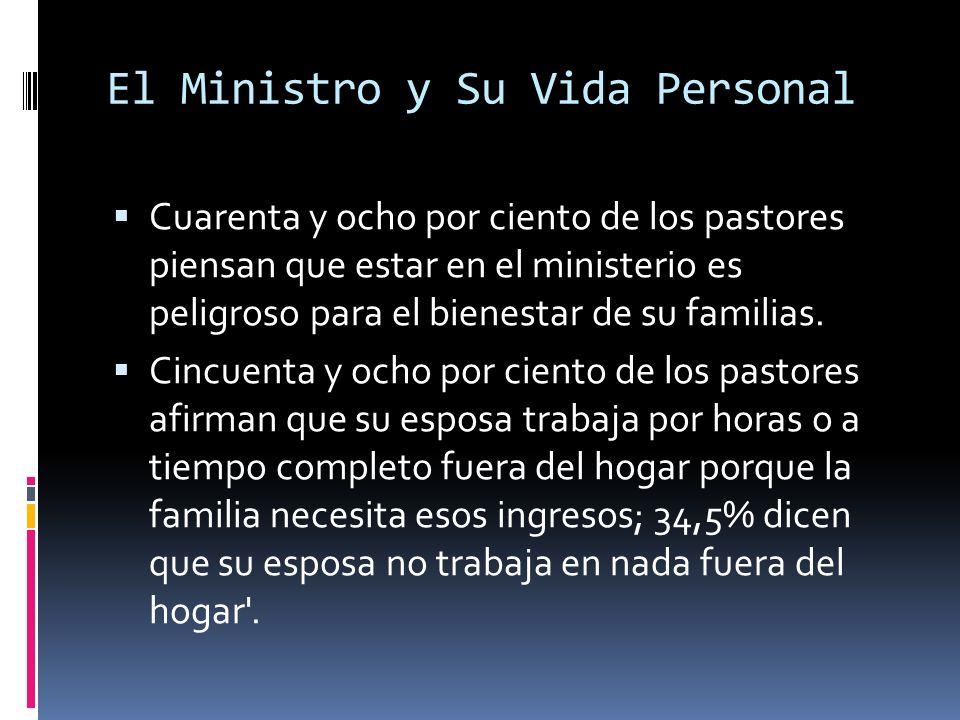 El Ministro y Su Vida Personal Cuarenta y ocho por ciento de los pastores piensan que estar en el ministerio es peligroso para el bienestar de su familias.