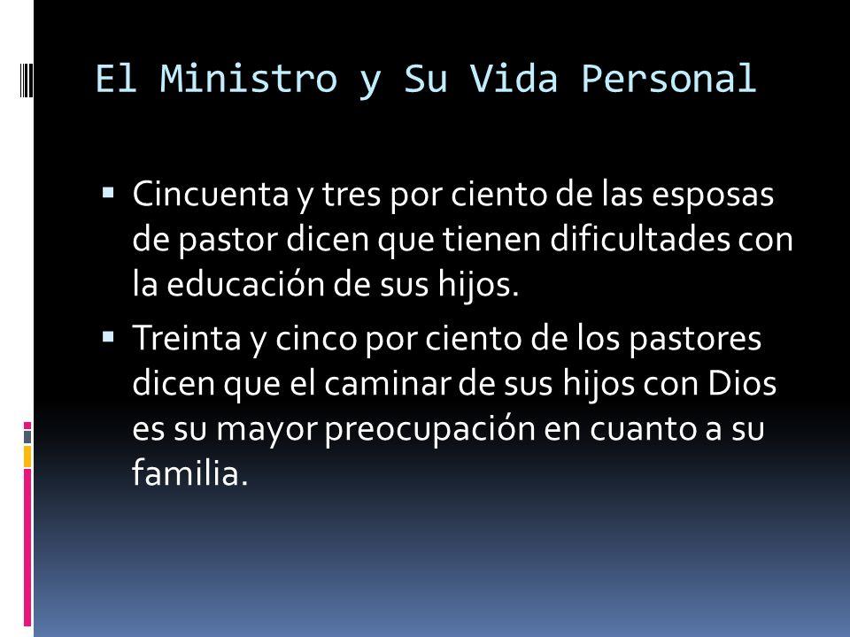 El Ministro y Su Vida Personal Cincuenta y tres por ciento de las esposas de pastor dicen que tienen dificultades con la educación de sus hijos.