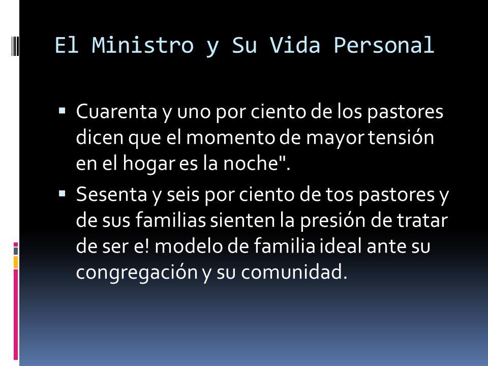 El Ministro y Su Vida Personal Cuarenta y uno por ciento de los pastores dicen que el momento de mayor tensión en el hogar es la noche .