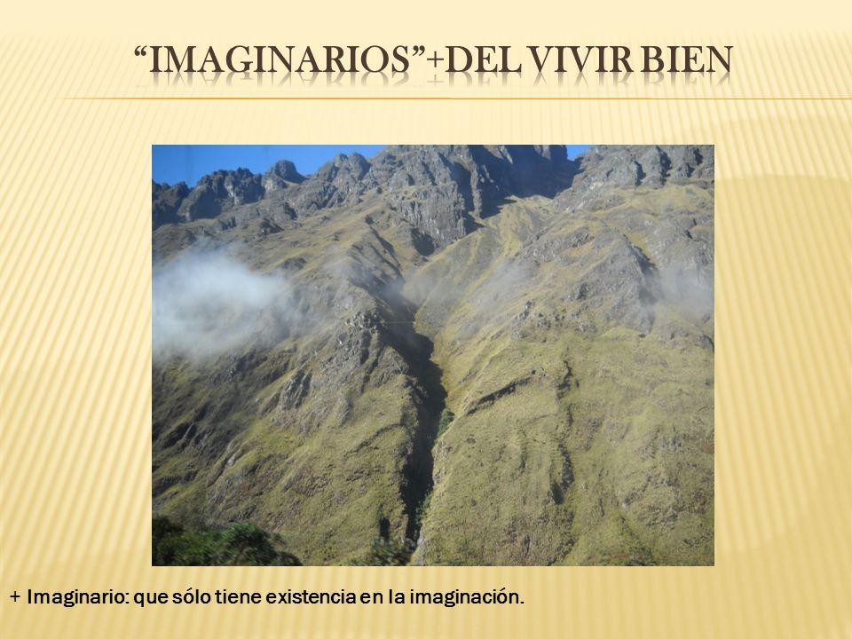 + Imaginario: que sólo tiene existencia en la imaginación.
