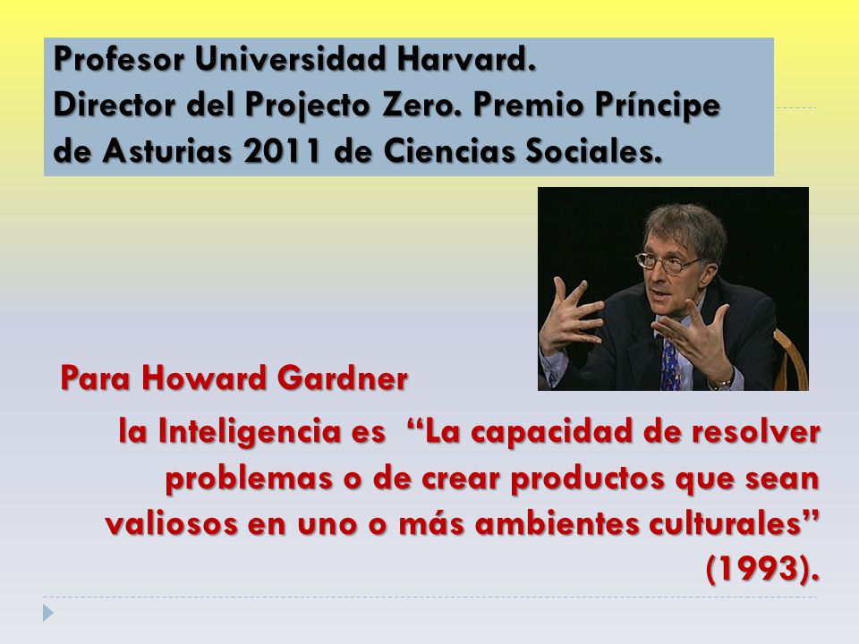 Profesor Universidad Harvard. Director del Projecto Zero.