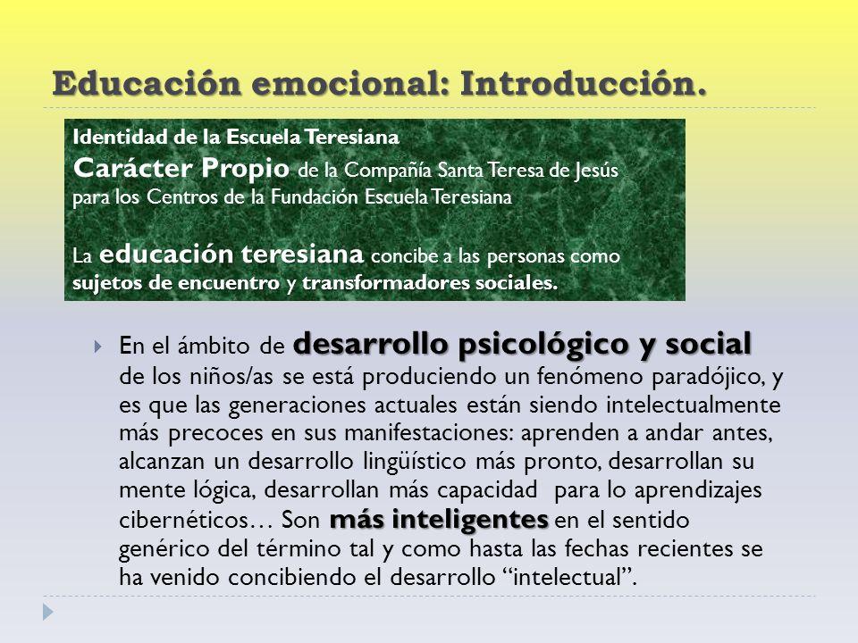 Educación emocional: Introducción.