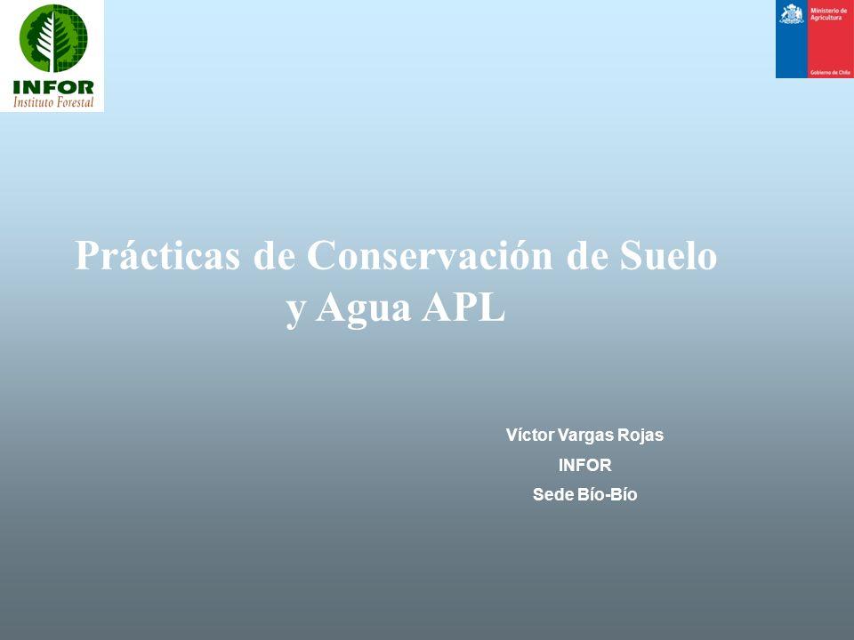 Prácticas de Conservación de Suelo y Agua APL Víctor Vargas Rojas INFOR Sede Bío-Bío