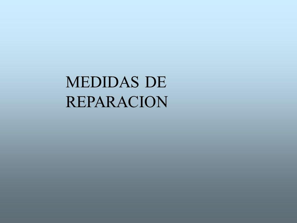 MEDIDAS DE REPARACION
