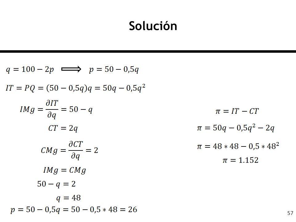 57 Solución