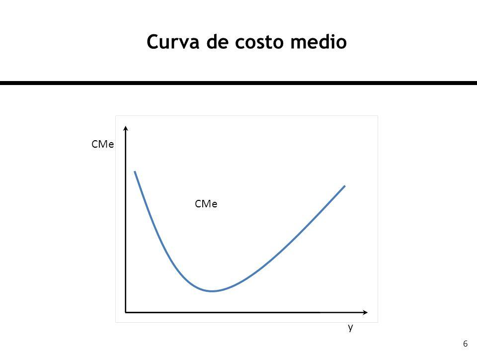 7 Los costos marginales Los costos marginales miden la variación en los costos totales ante una variación en la producción: Como los CF no cambian, entonces también se puede escribir como: