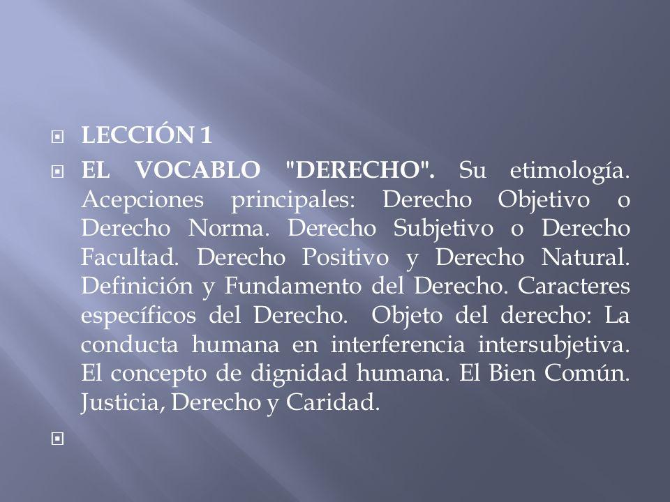 LECCIÓN 1 EL VOCABLO