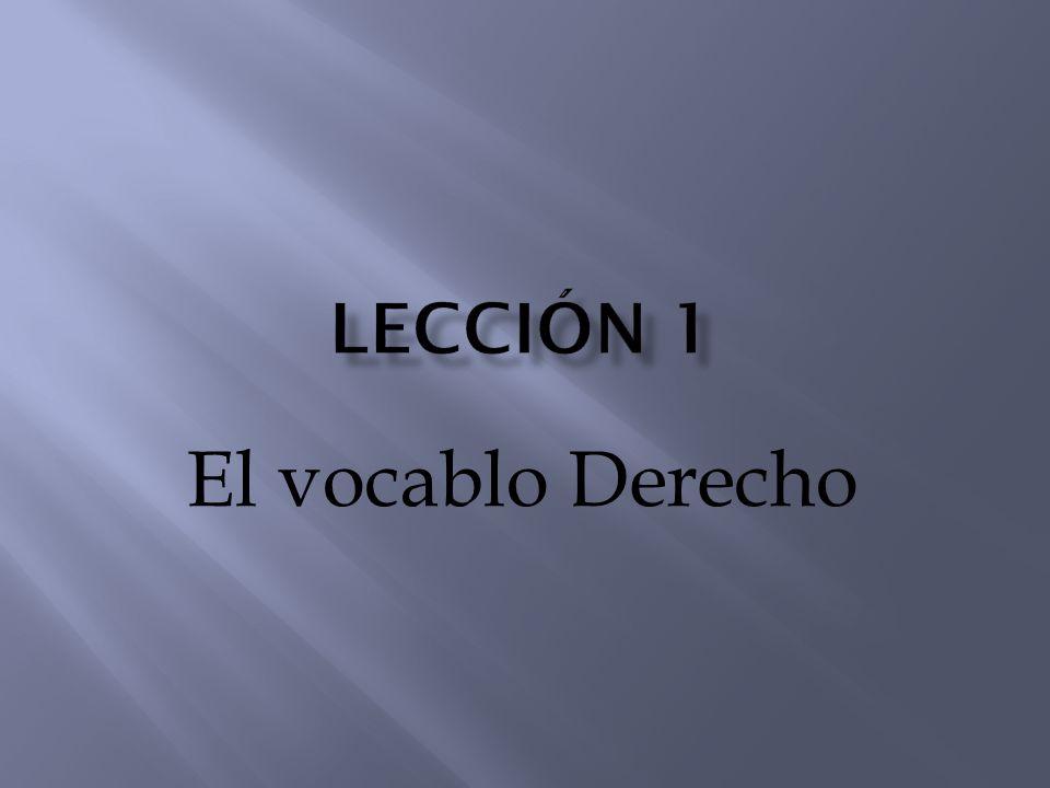 El término derecho deriva de ¨DIRECTUS¨, participio pasivo del verbo latino dirigere, que significa guiar, enderezar, y de ¨RECTUS, lo que se ajusta a la línea recta o sugiere la idea de rectitud.