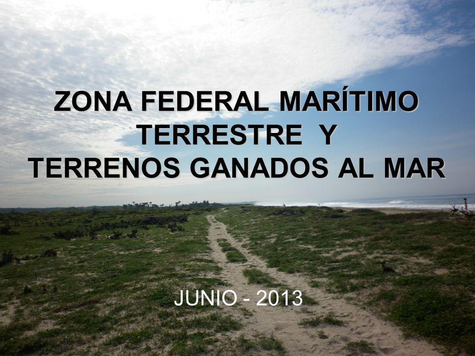 MARCO LEGAL Reglamento para el uso y aprovechamiento del Mar Territorial, vías navegables, playas, Zona Federal Marítimo Terrestre y Terrenos Ganados al Mar.