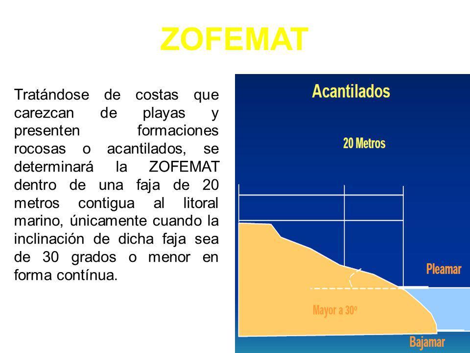 AcantiladoInclinación menor a 30° ZOFEMAT