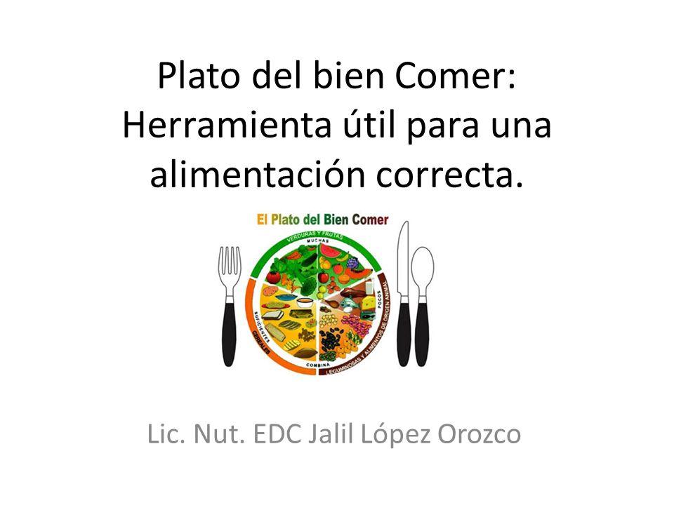 Plato del bien Comer: Herramienta útil para una alimentación correcta. Lic. Nut. EDC Jalil López Orozco