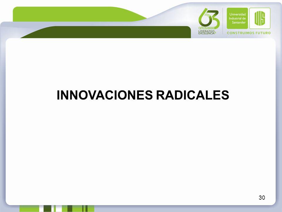 30 INNOVACIONES RADICALES