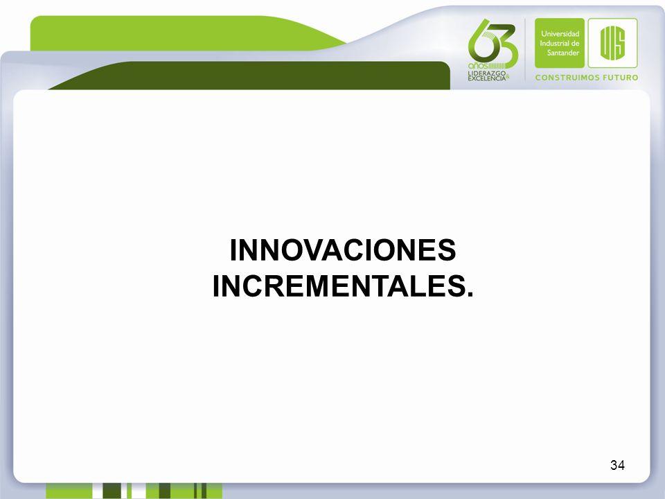34 INNOVACIONES INCREMENTALES.