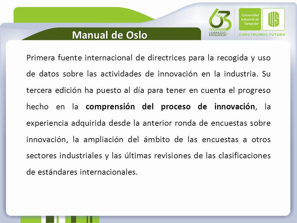Primera fuente internacional de directrices para la recogida y uso de datos sobre las actividades de innovación en la industria. Su tercera edición ha
