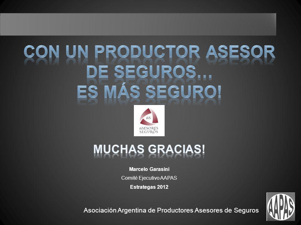 Asociación Argentina de Productores Asesores de Seguros Marcelo Garasini Comité Ejecutivo AAPAS Estrategas 2012