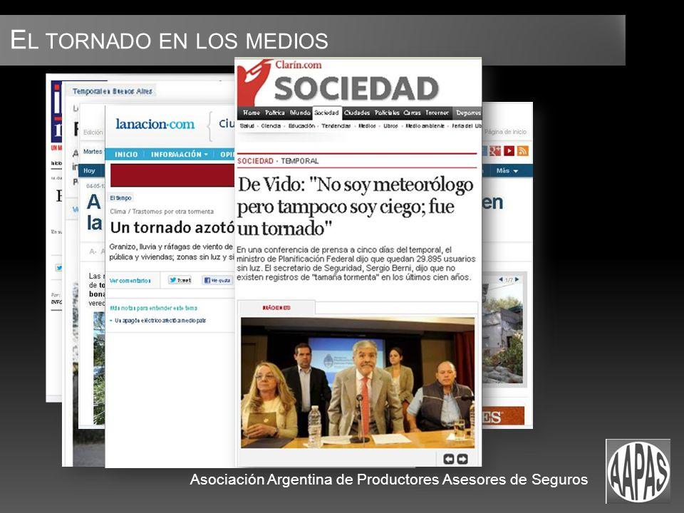 E L TORNADO EN LOS MEDIOS Asociación Argentina de Productores Asesores de Seguros