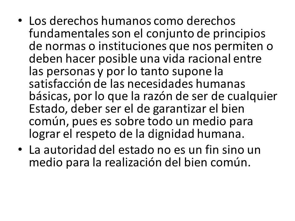 Los derechos humanos constituyen el patrimonio de la dignidad humana, pues la persona humana y su dignidad son inseparables.