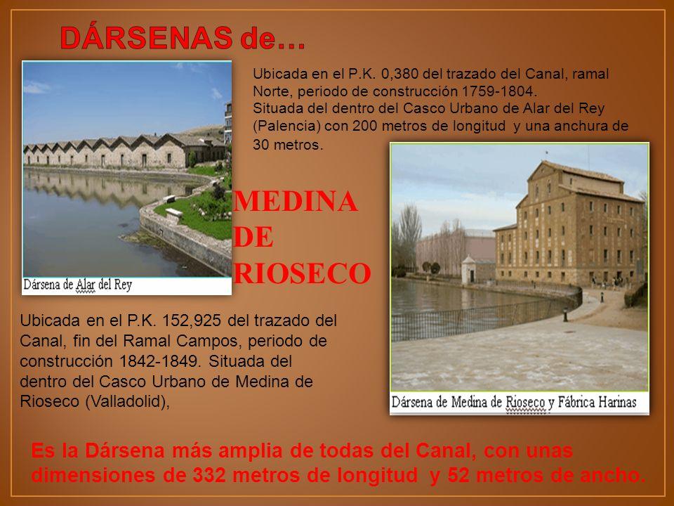 Ubicada en el P.K. 0,380 del trazado del Canal, ramal Norte, periodo de construcción 1759-1804. Situada del dentro del Casco Urbano de Alar del Rey (P