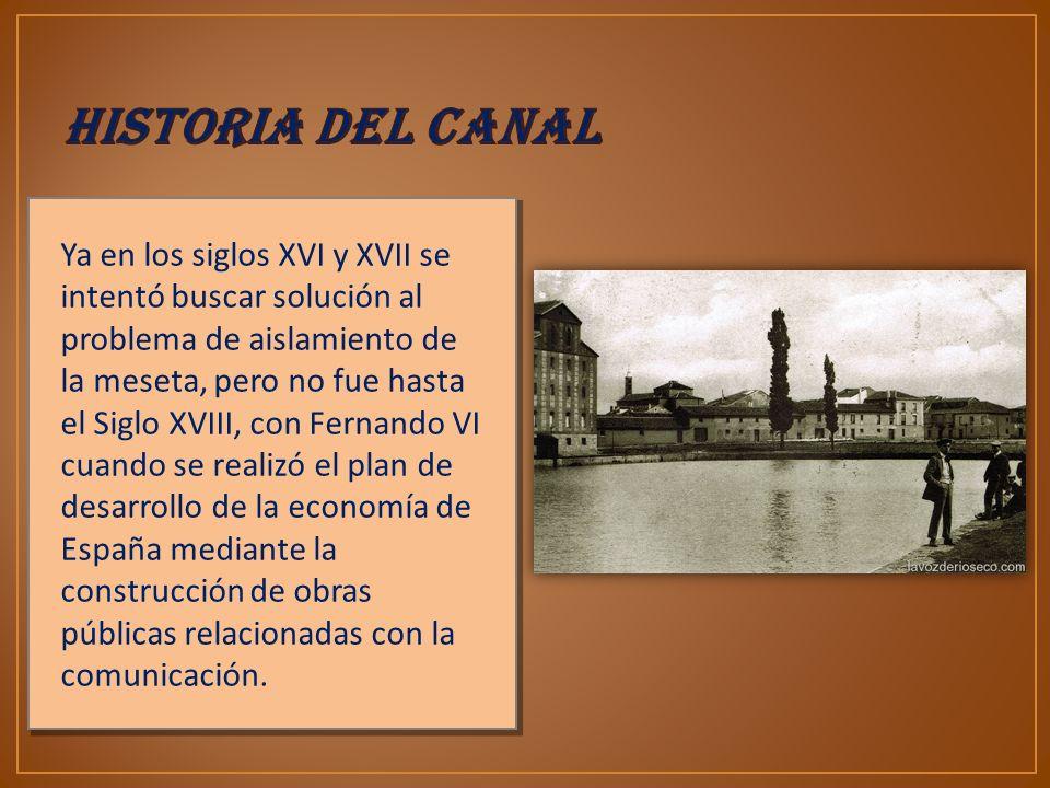 El ingeniero Antonio de Ulloa presenta a la corona el Proyecto General de los Canales de Navegación y Riego para los Reinos de Castilla y León.