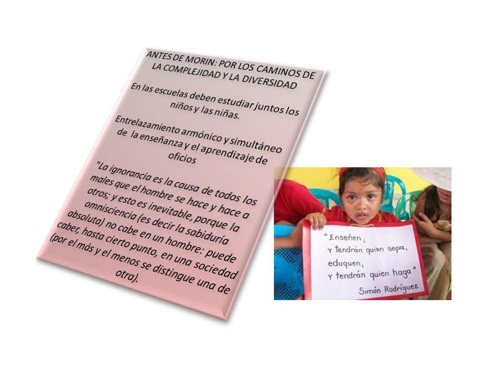 PREGUNTAS: ¿Por qué el sistema educativo colombiano no ha tenido en cuenta el pensamiento pedagógico de Simón Rodríguez.