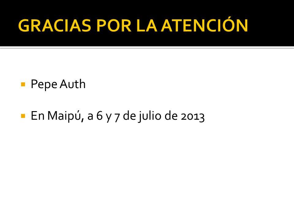 Pepe Auth En Maipú, a 6 y 7 de julio de 2013