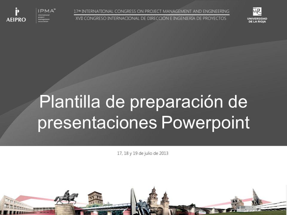 Plantilla de preparación de presentaciones Powerpoint