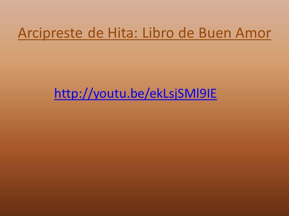 Arcipreste de Hita: Libro de Buen Amor http://youtu.be/ekLsjSMl9IE