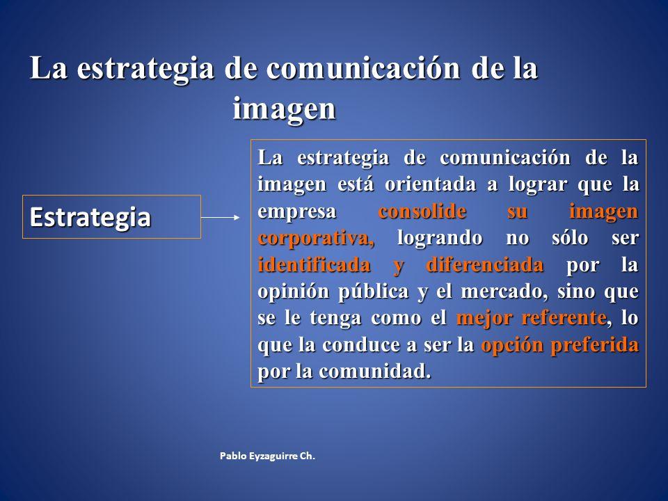 La estrategia de comunicación de la imagen La estrategia de comunicación de la imagen está orientada a lograr que la empresa consolide su imagen corpo
