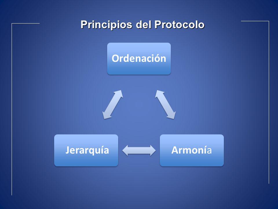 OrdenaciónArmonía Jerarquía Principios del Protocolo