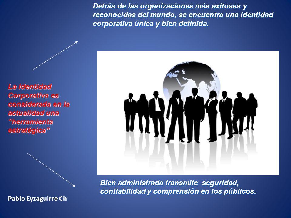La Identidad Corporativa La identidad corporativa es el conjunto de características, valores y creencias con las que la organización se auto identifica y se auto diferencia de las otras organizaciones.