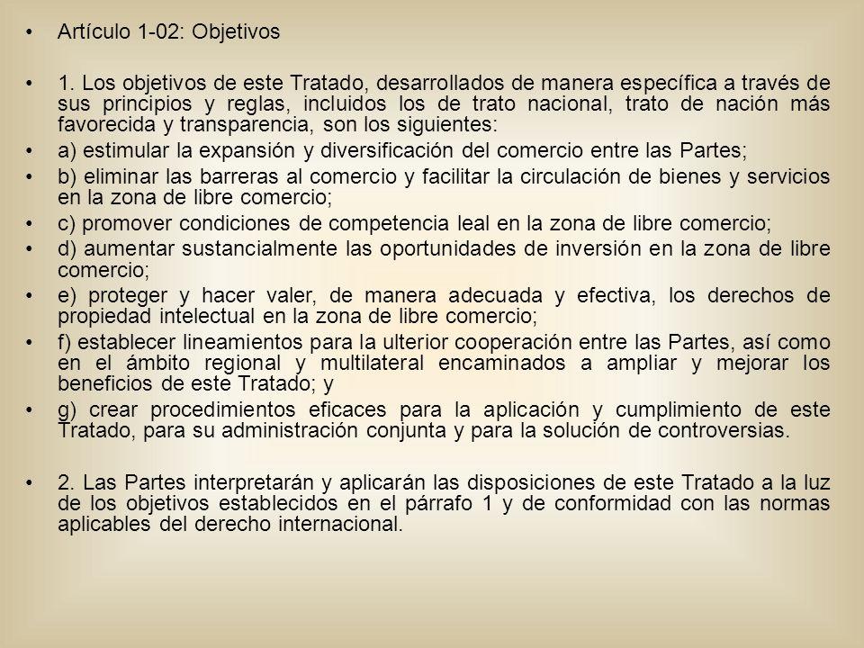 Artículo 1-02: Objetivos 1.