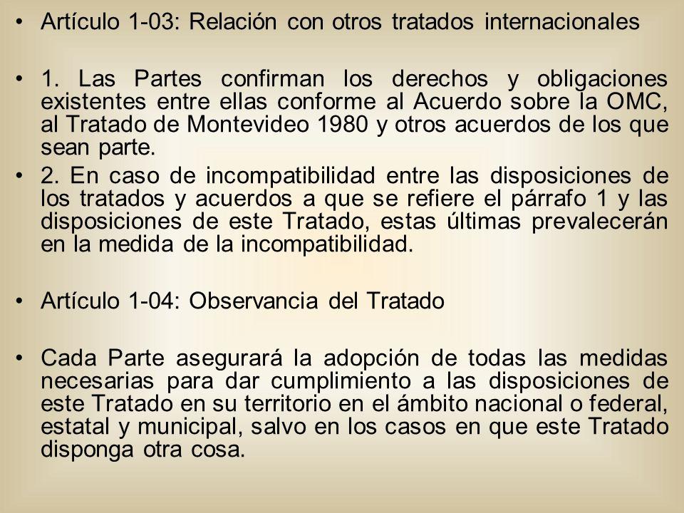Artículo 1-03: Relación con otros tratados internacionales 1.