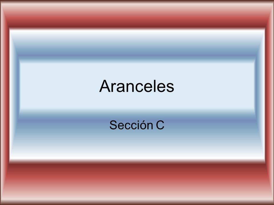 Aranceles Sección C