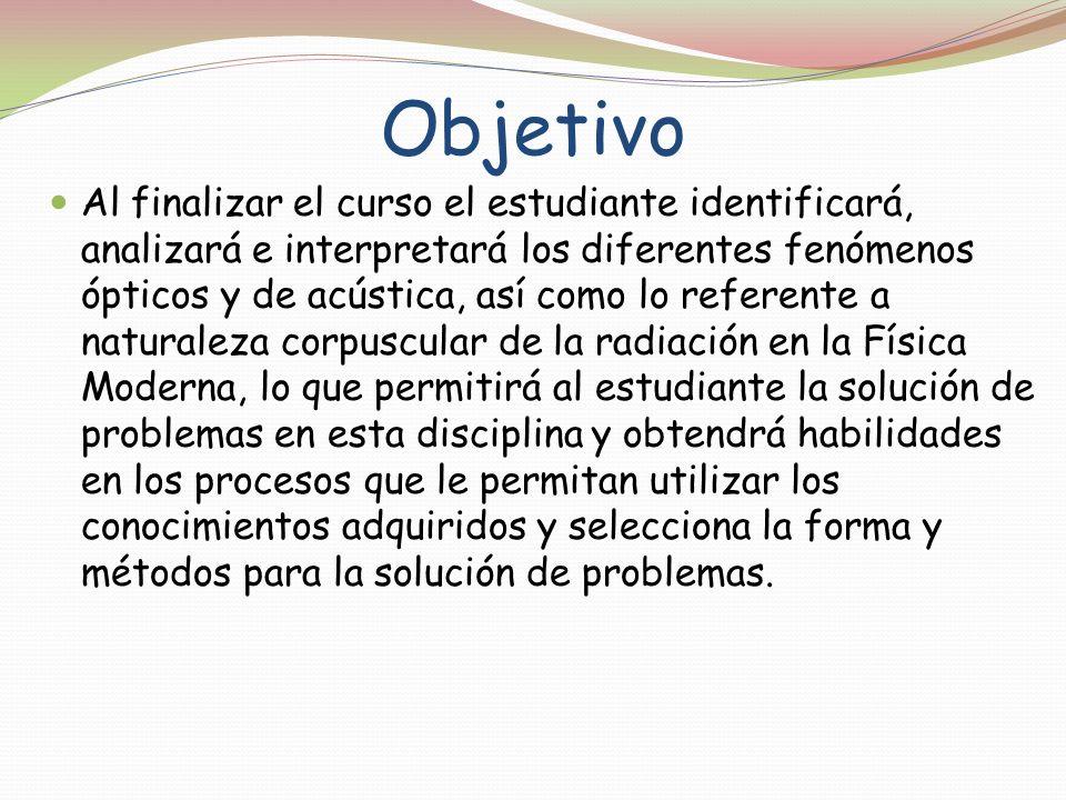 PROGRAMA DE ESTUDIOS de Temas Selectos de Física I.