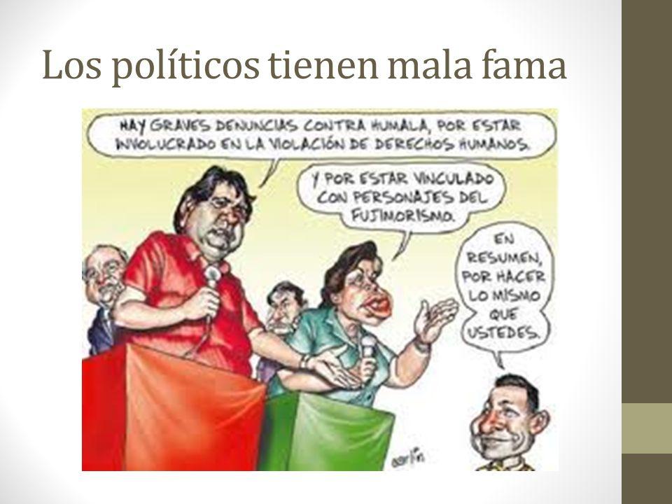 Los políticos tienen mala fama