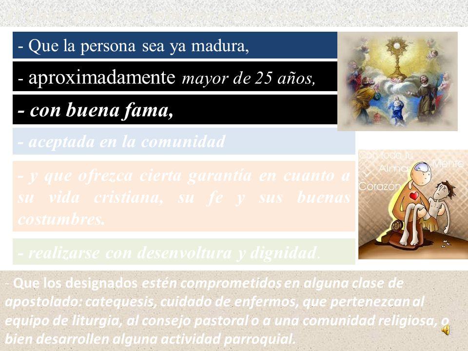 1) Laicos que distribuyen la comunión Dentro de la Misa: Ayudar al sacerdote a repartir la Comunión cuando haya muchos comulgantes, falten otros minis