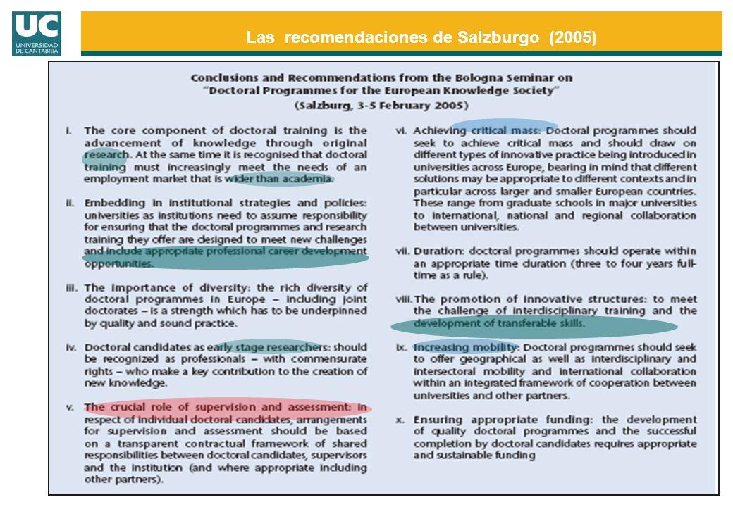 Las recomendaciones de Salzburgo (2005)