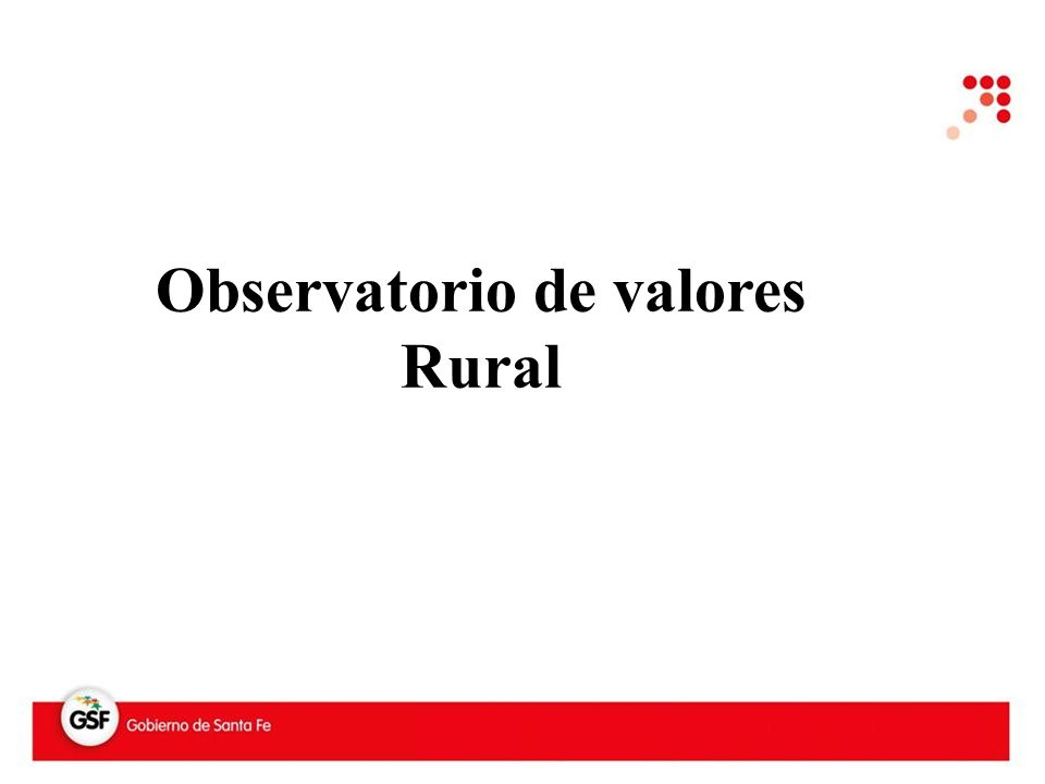 Observatorio de valores Rural
