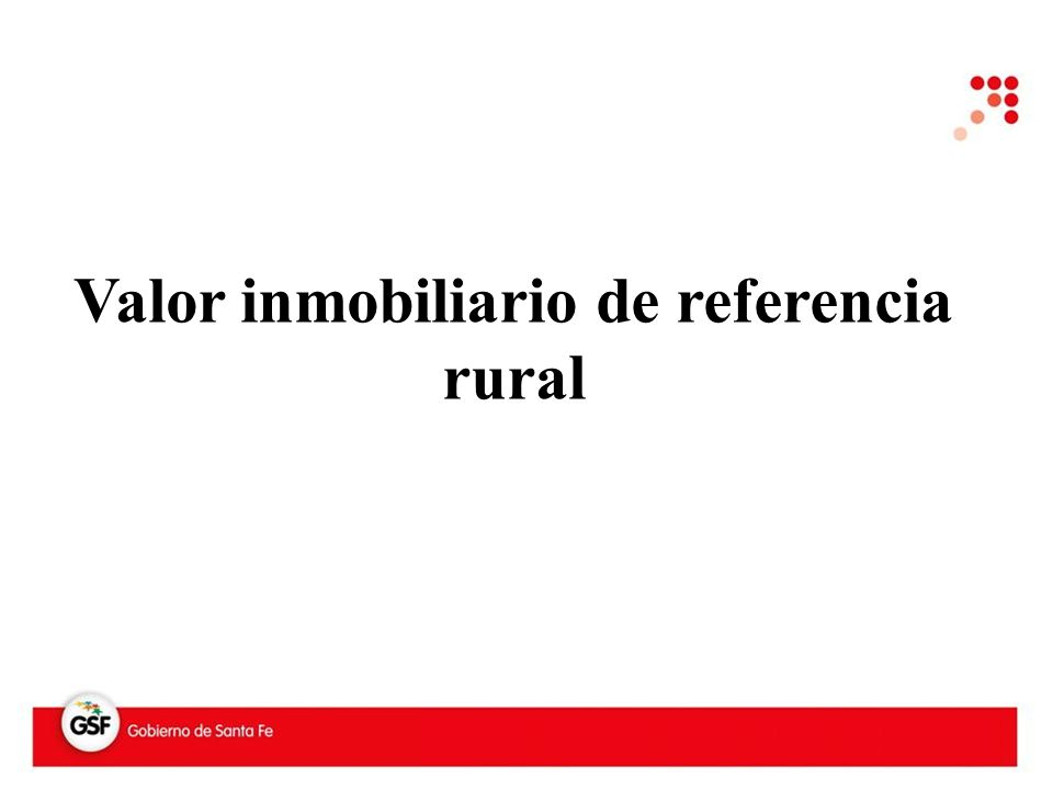Valor inmobiliario de referencia rural