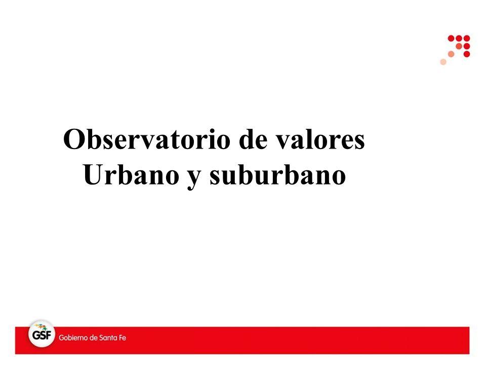 Observatorio de valores Urbano y suburbano