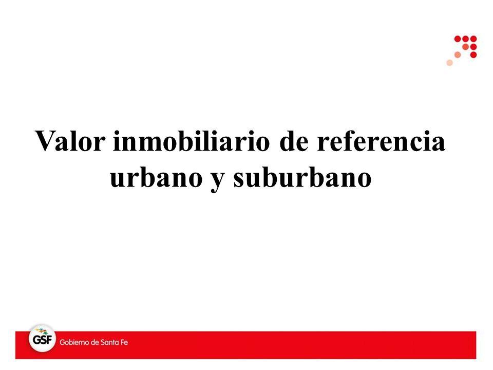 Valor inmobiliario de referencia urbano y suburbano