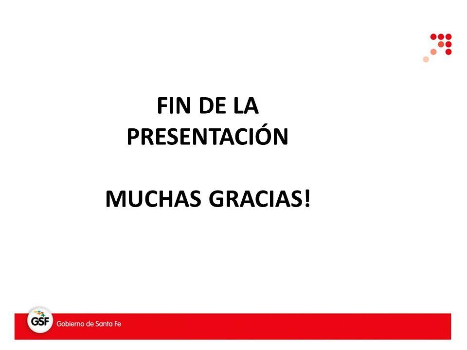 FIN DE LA PRESENTACIÓN MUCHAS GRACIAS!