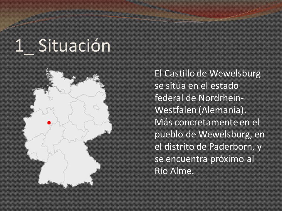 1_ Situación El Castillo de Wewelsburg se sitúa en el estado federal de Nordrhein- Westfalen (Alemania). Más concretamente en el pueblo de Wewelsburg,