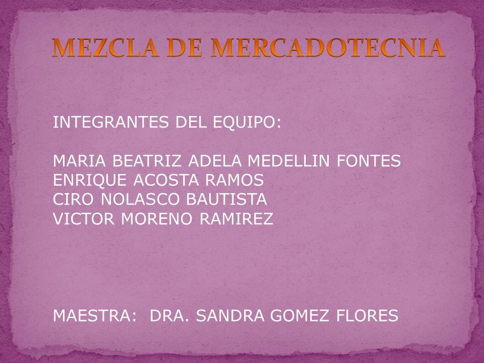 INTEGRANTES DEL EQUIPO: MARIA BEATRIZ ADELA MEDELLIN FONTES ENRIQUE ACOSTA RAMOS CIRO NOLASCO BAUTISTA VICTOR MORENO RAMIREZ MAESTRA: DRA.